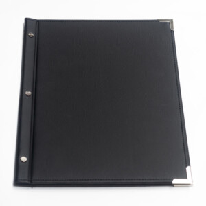 Standard Ex Stock A4 Black Leatherette Menu Folder