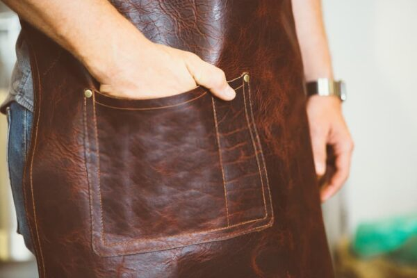 Menu Folders Bespoke Leather Aprons South Africa Handmade