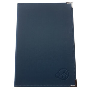 A4 Leatherette Document Folder With Embossing Custom Made Menu