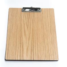 A4 Light Oak Menu Board With Clipboard Mechanism