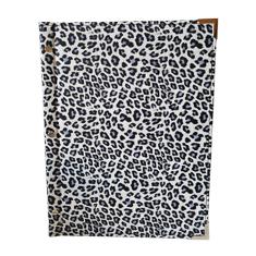 A4 Leopard Skin Inspired Menu Cover White And Blue