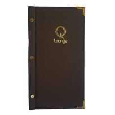 Slimline A4 Leatherette Menu Folder With Gold Foil Logo