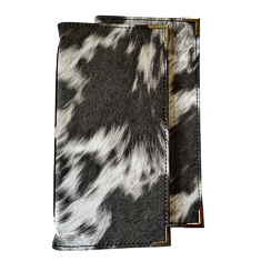 Slimline Leatherette Animal Skin Inspired Menu Folder