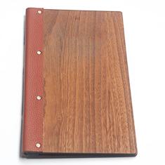Slimline Wrap Around Dark Oak Menu Folder - Dark Oak Menu Cover