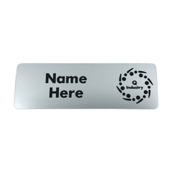 Silver Magnetic Name Badge For Staff
